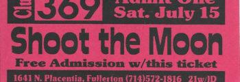 Moon Ticket July 15 1995